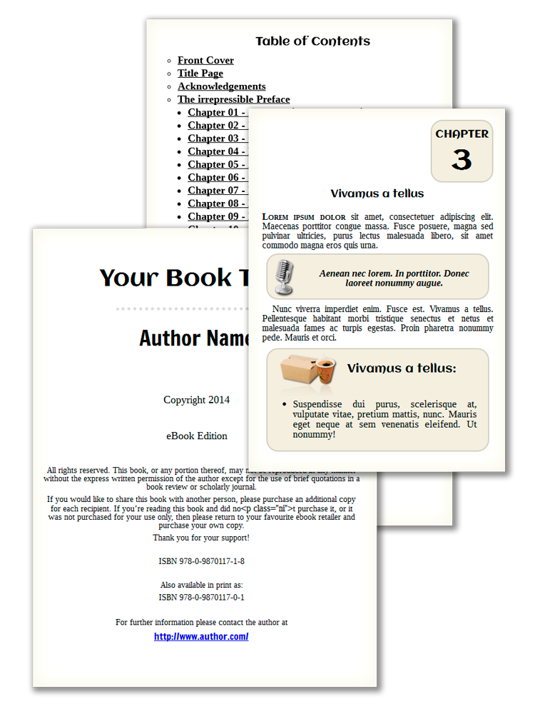 Samples of good e-Books Design that reflows and looks as good as a printed book!